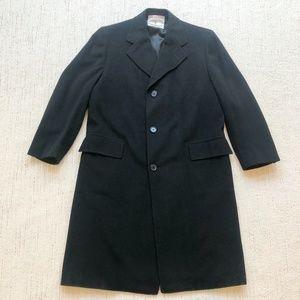 Hickey Freeman   100% Cashmere Overcoat  Black
